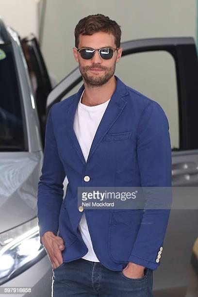 Jamie Dornan seen at the ITV Studios on August 30 2016 in London England