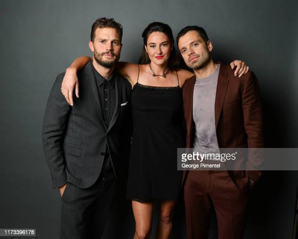 Jamie Dornan Shailene Woodley and Sebastian Stan attend the Endings Beginnings post TIFF premiere cocktail party presented by HUGO BOSS at Montecito...