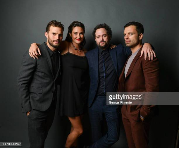 Jamie Dornan Shailene Woodley Drake Doremus and Sebastian Stan attend the Endings Beginnings post TIFF premiere cocktail party presented by HUGO BOSS...