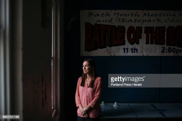 Jamie Dorr poses for a portrait in the rec room at the Bath Youth Meetinghouse Skate Park where she is president of the board She also helped start...