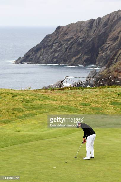 Jamie Elson of England putts on the 13th hole during day three of the Madeira Islands Open on May 21 2011 in Porto Santo Island Portugal