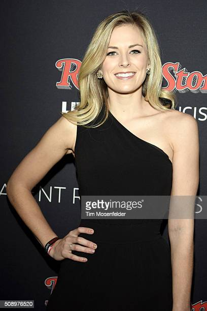 Jamie Erdahl attends the Rolling Stone Live Party on their engagement day at San Francisco Design Center on February 6 2016 in San Francisco...