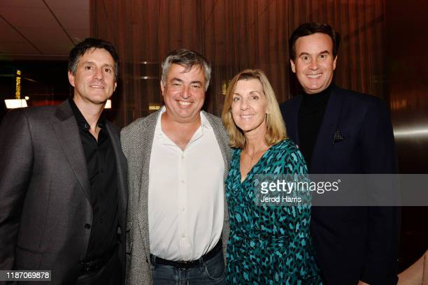 Jamie Erlicht Eddy Cue Paula Cue and Zack Van Amburg attend the after party of Apple TV's 'Truth Be Told' on November 11 2019 in Beverly Hills...