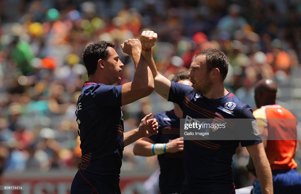 Jamie Farndale of Scotland during the match between Scotland and USA during day 2 of the HSBC Cape Town Sevens at Cape Town Stadium on December 11, 2016 in Cape Town, South Africa.
