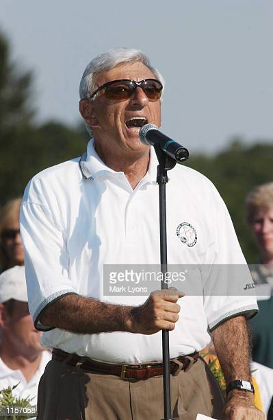 Jamie Farr speaks with fans after the final round of the Jamie Farr Kroger Classic on July 14, 2002 at Highland Meadows GC in Sylvania, Ohio.
