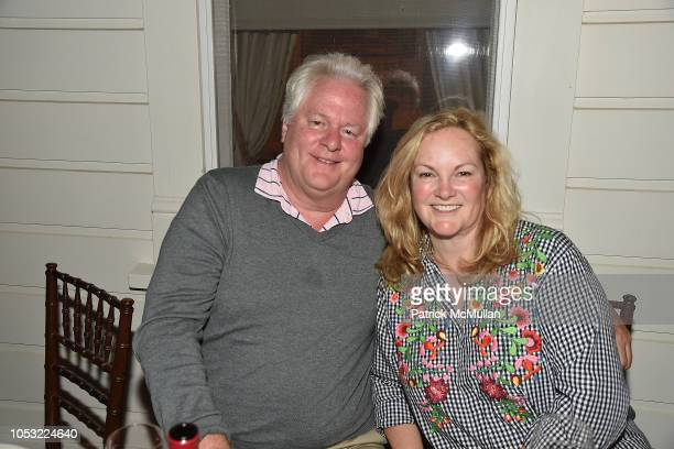 Jamie Figg and Patricia Hearst Shaw attend Hearst Castle Preservation Foundation - Associate Trustees' Dinner at Hearst Castle on September 27, 2018...