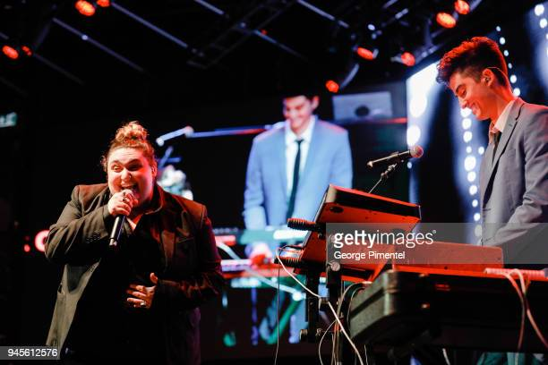 Jamie Fine and Elijah Woods peform at Wanderluxe benefiting Air Canada And SickKids Foundationon held at Rebel on April 12 2018 in Toronto Canada