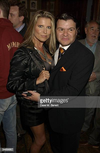 Jamie Foreman and Julie Dennis attends the afterparty following UK premiere of I'll Sleep When I'm Dead at the Kings Head Islington on April 26 2004...