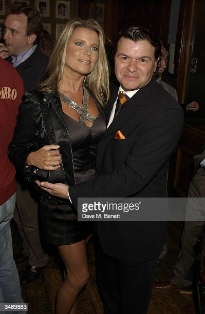 "Jamie Foreman and Julie Dennis attends the afterparty following UK premiere of ""I'll Sleep When I'm Dead"" at the Kings Head, Islington on April 26,..."