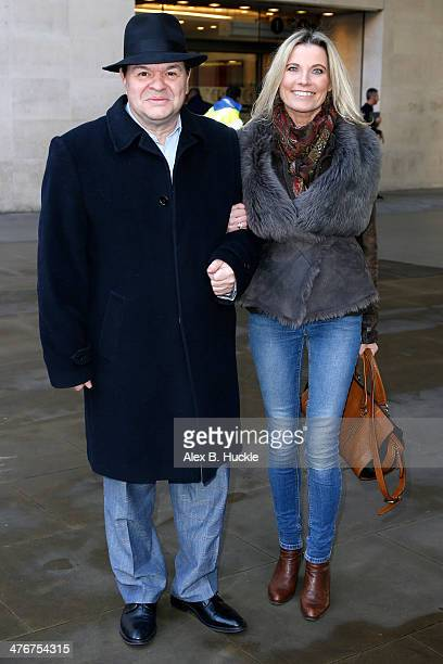 Jamie Foreman and Julie Dennis sighted at the BBC Studios on Portland Place on March 5 2014 in London England