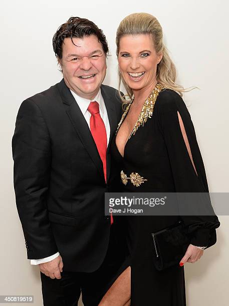 Jamie Foreman with his wife Julie Dennis attend the Amy Winehouse Foundation Ball at the Dorchester Hotel on November 20, 2013 in London, England.