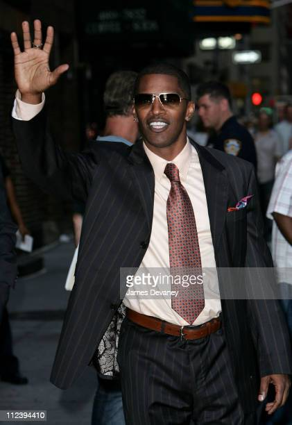 """Jamie Fox during Colin Farrell and Jamie Foxx Visit """"The Late Show With David Letterman"""" - July 24, 2006 at Ed Sullivan Theatre in New York City, New..."""