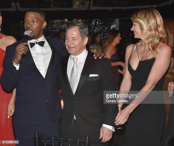 Jamie Foxx Alec Gores and Kelly Noonan Gores attend Learning Lab Ventures Gala in Partnership with NETAPORTER on January 25 2018 in Beverly Hills...