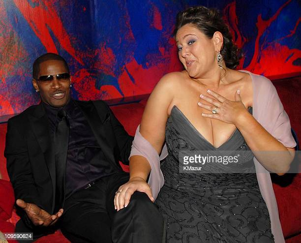 Jamie Foxx and Camryn Manheim during InStyle Warner Bros 2006 Golden Globes After Party Inside at Beverly Hilton in Beverly Hills California United...