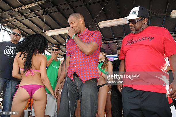 Jamie Foxx and Cedric the Entertainer is sighted at South Beach on February 9 2013 in Miami Beach Florida
