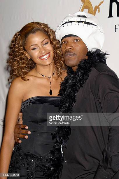Jamie Foxx and Claudia Jordan arriving at Usher's 24 Birthday Party 'A Night of Masquerade' at The Highlands Hollywood CA