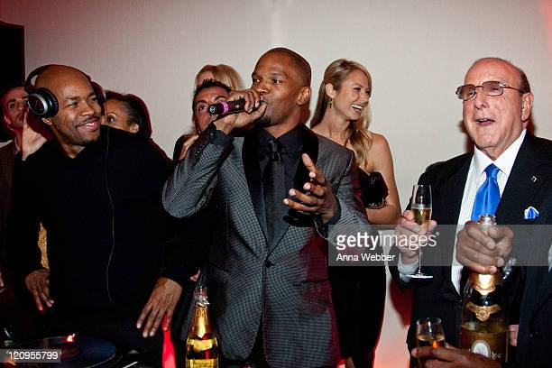 Jamie Foxx and Clive Davis attend L'Ermitage on January 29 2010 in Los Angeles California