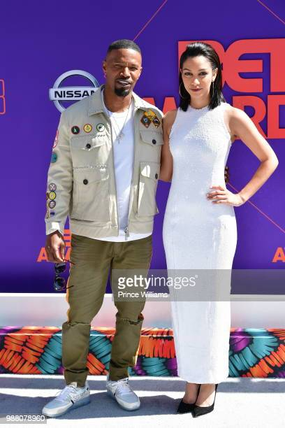 Jamie Foxx and Corinne Foxx arrive to the 2018 BET Awards held at Microsoft Theater on June 24 2018 in Los Angeles California