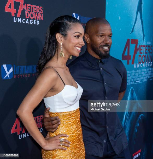 Jamie Foxx and Corinne Foxx attend the LA Premiere of 47 Meters Down UNCAGED on August 13 2019 in Los Angeles California
