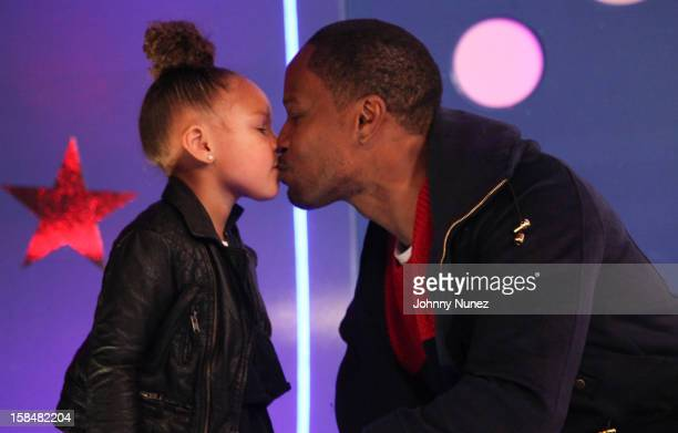 Jamie Foxx and daughter visit at 106 Park Studio on December 14 2012 in New York City