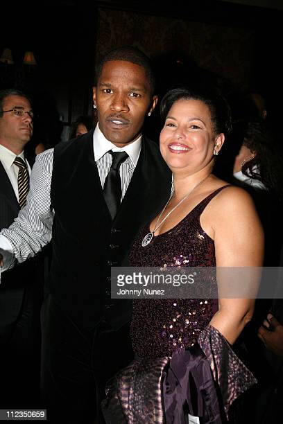 Jamie Foxx and Debra Lee during Dreamgirls New York Premiere After Party Hosted by Unik and Jamie Foxx at Gin Lane in New York City New York United...