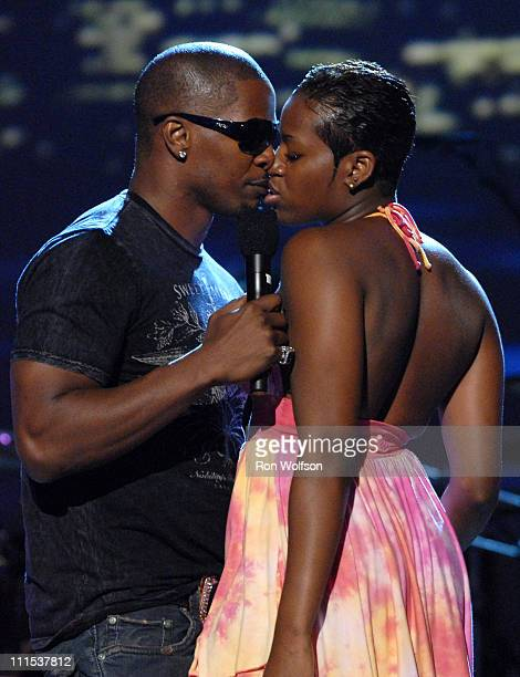 Jamie Foxx and Fantasia during 6th Annual BET Awards Rehearsals Day 1 at Shrine Auditorium in Los Angeles California United States
