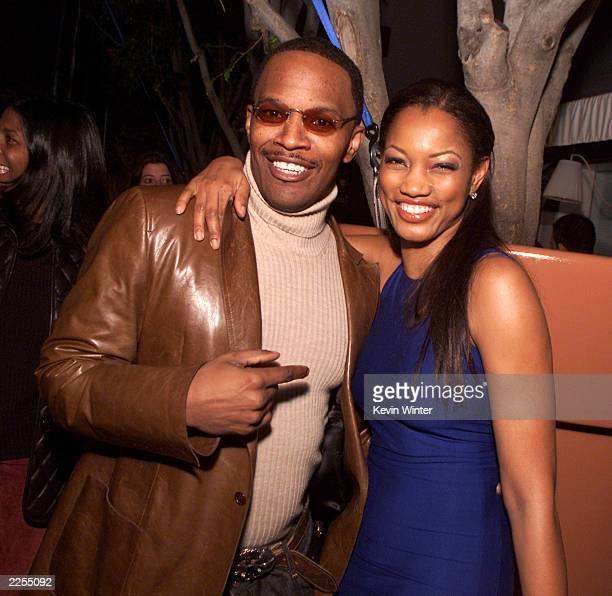 Jamie Foxx and Garcelle Beauvais-Nilon at Talk Magazine's Pre-Golden Globes party at Mondrian in Los Angeles, Ca. Thursday, Jan. 17, 2002. Photo by...