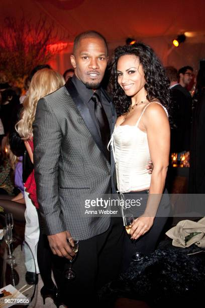 Jamie Foxx and guest attend L'Ermitage on January 29 2010 in Los Angeles California