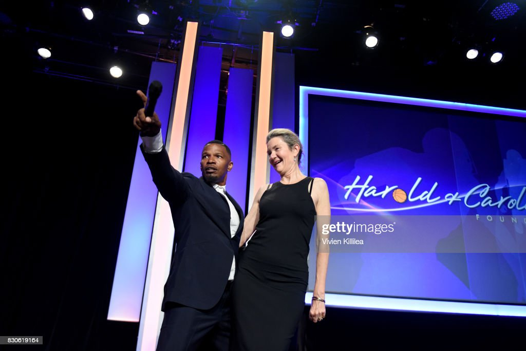 Jamie Foxx and Guest attend the 17th Annual Harold & Carole Pump Foundation Gala at The Beverly Hilton Hotel on August 11, 2017 in Beverly Hills, California.