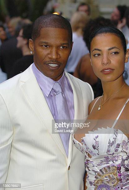 Jamie Foxx and Guest during 'Miami Vice' London Premiere Outside Arrivals at Odeon Leicester Square in London Great Britain