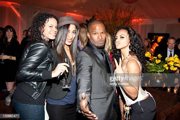 Jamie Foxx and guests attend L'Ermitage on January 29 2010 in Los Angeles California