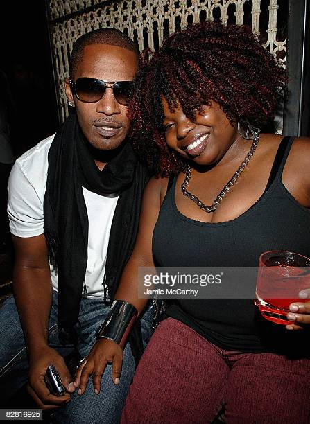 Jamie Foxx and his Sister attend the Grand Opening Of Lavo Restaurant And Nightclub At The Palazzo hotel in Las Vegas on September 132008