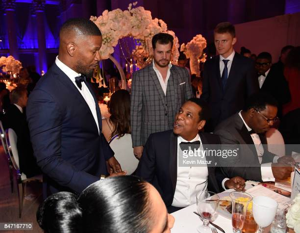 Jamie Foxx and JayZ attend Rihanna's 3rd Annual Diamond Ball Benefitting The Clara Lionel Foundation at Cipriani Wall Street on September 14 2017 in...