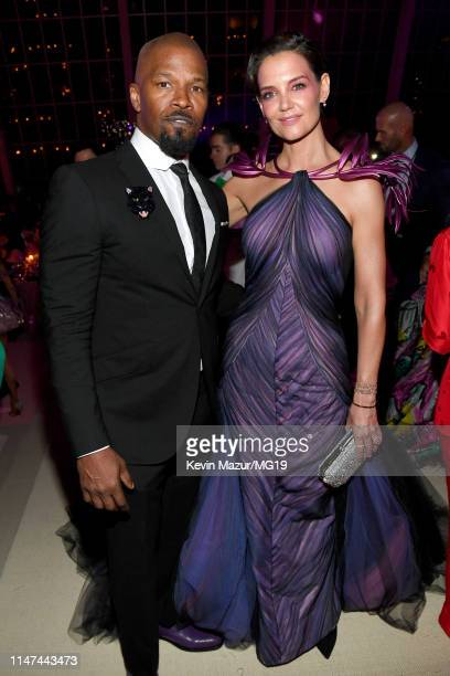 Jamie Foxx and Katie Holmes attend The 2019 Met Gala Celebrating Camp Notes on Fashion at Metropolitan Museum of Art on May 06 2019 in New York City