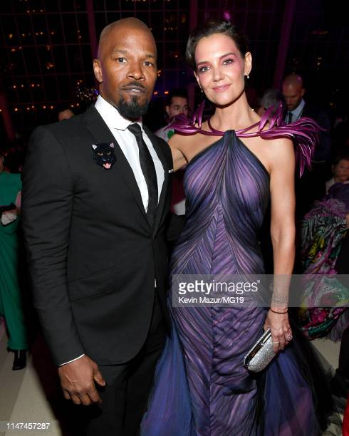 Jamie Foxx and Katie Holmes attend The 2019 Met Gala Celebrating Camp: Notes on Fashion at Metropolitan Museum of Art on May 06, 2019 in New York...