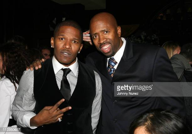 Jamie Foxx and Kenny Smith during Dreamgirls New York Premiere After Party Hosted by Unik and Jamie Foxx at Gin Lane in New York City New York United...