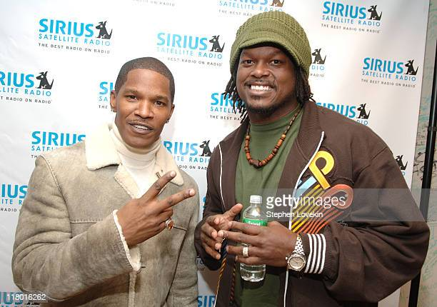 Jamie Foxx and LaVar Arrington during Jamie Foxx to Launch The Foxxhole Exclusive Urban Comedy and Entertainment Channel on SIRIUS Satellite Radio at...