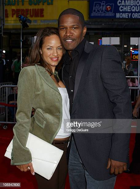 Jamie Foxx and Leila Arcieri during Collateral Los Angeles Premiere Arrivals at Orpheum Theatre in Los Angeles California United States