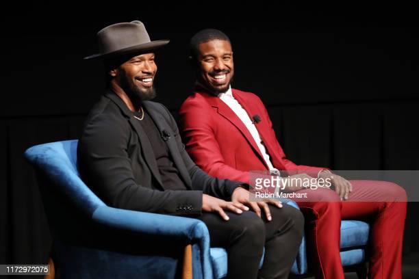 Jamie Foxx and Michael B. Jordan attend In Conversation With...Michael B. Jordan And Jamie Foxx during the 2019 Toronto International Film Festival...