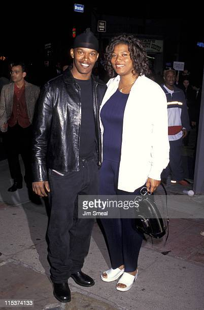 Jamie Foxx and Queen Latifah during Batman Robin Los Angeles Premiere at Mann's Bruin Theater in Westwood California United States