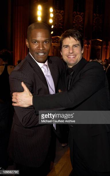 Jamie Foxx and Tom Cruise during 10th Annual Critics' Choice Awards Backstage and Audience at Wiltern LG Theatre in Los Angeles California United...