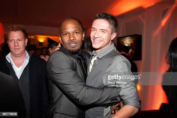 Jamie Foxx and Topher Grace attend L'Ermitage on January 29 2010 in Los Angeles California