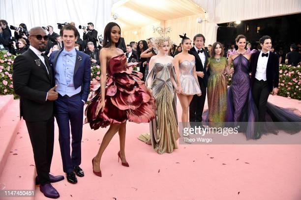 Jamie Foxx Andrew Garfield Jourdan Dunn Julia Garner Nina Dobrev Vito Schnabel Gia Coppola Katie Holmes and Zac Posen attend The 2019 Met Gala...