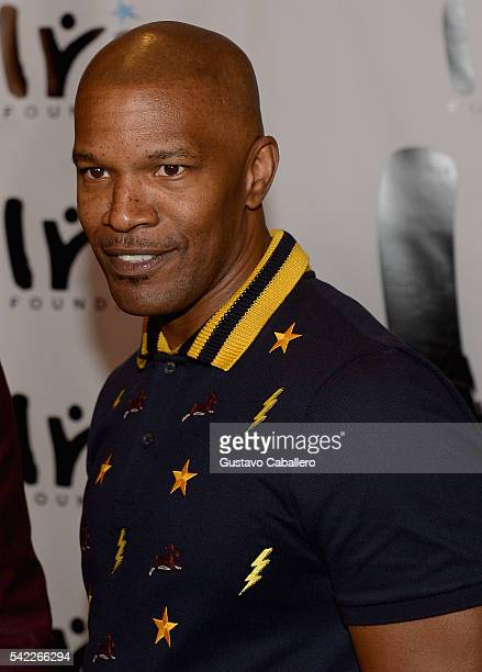 Jamie Foxx arrives at Irie Foundation #InspIRIE Dinner Gala on June 22 2016 in Miami Beach Florida