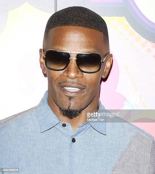 Jamie Foxx arrives at the Los Angeles premiere of 'My Little Pony Equestria Girls Rainbow Rocks' held at TCL Chinese 6 Theatres on September 27 2014...