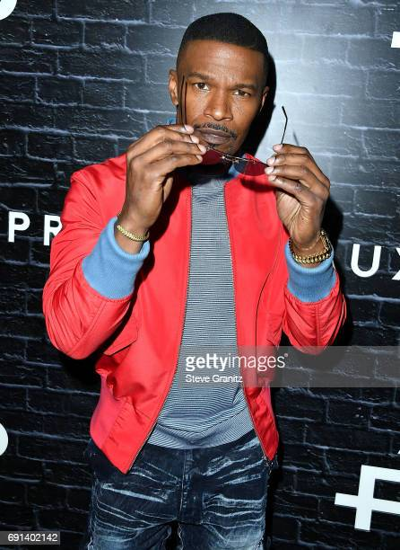 Jamie Foxx arrives at the Prive Revaux Launch Event at Chateau Marmont on June 1 2017 in Los Angeles California