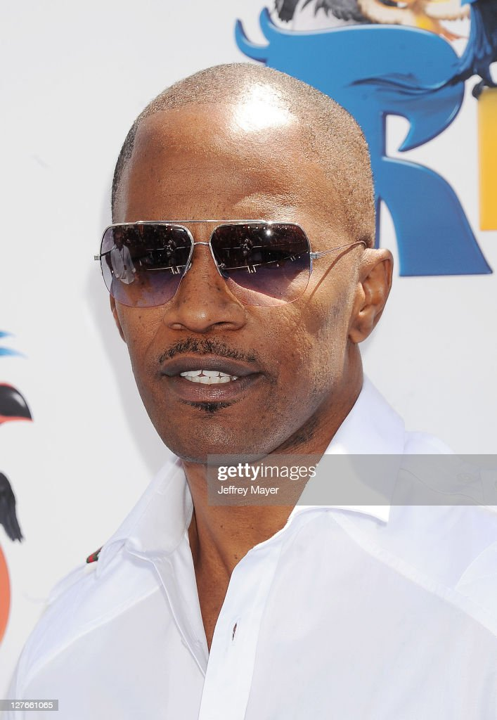 Jamie Foxx arrives at the 'Rio' Los Angeles Premiere at Grauman's Chinese Theatre on April 10, 2011 in Hollywood, California.