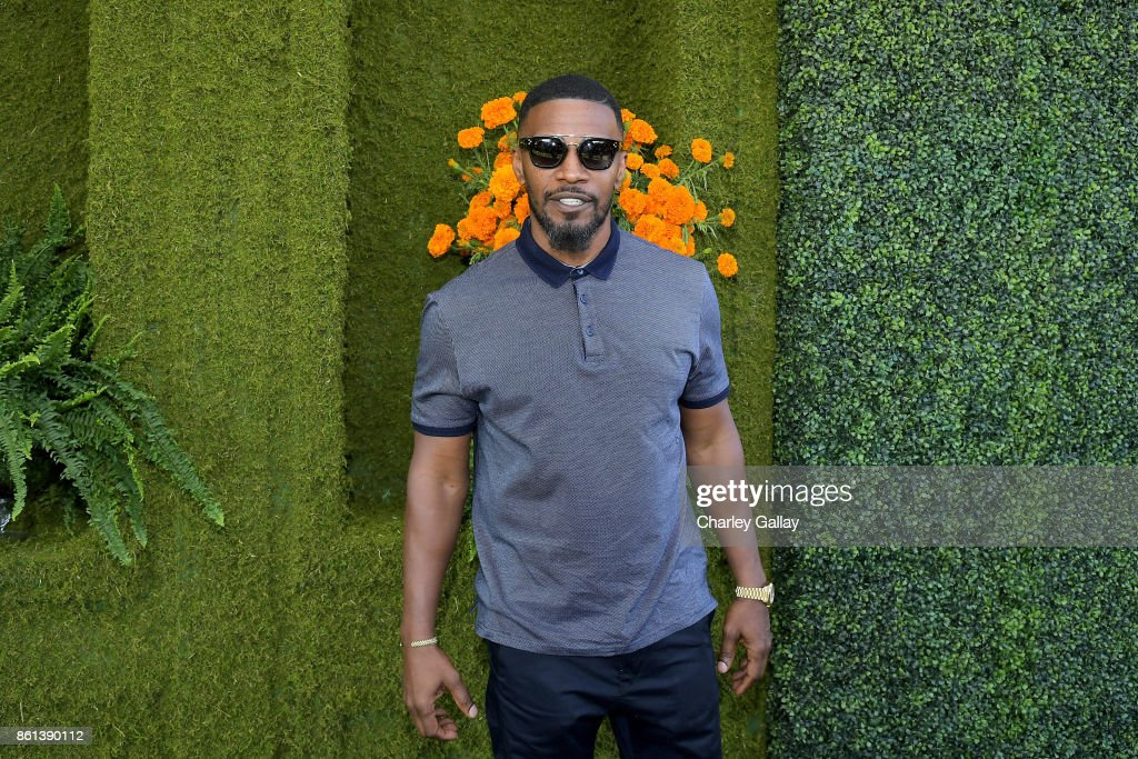 Jamie Foxx at the Eighth Annual Veuve Clicquot Polo Classic on October 14, 2017 in Los Angeles, California.