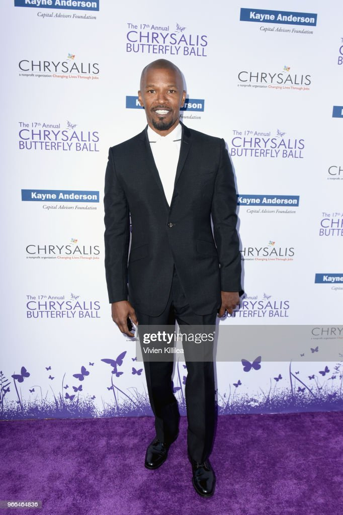 Jamie Foxx attended the 17th Annual Chrysalis Butterfly Ball in Los Angeles, CA on June 2, 2018.