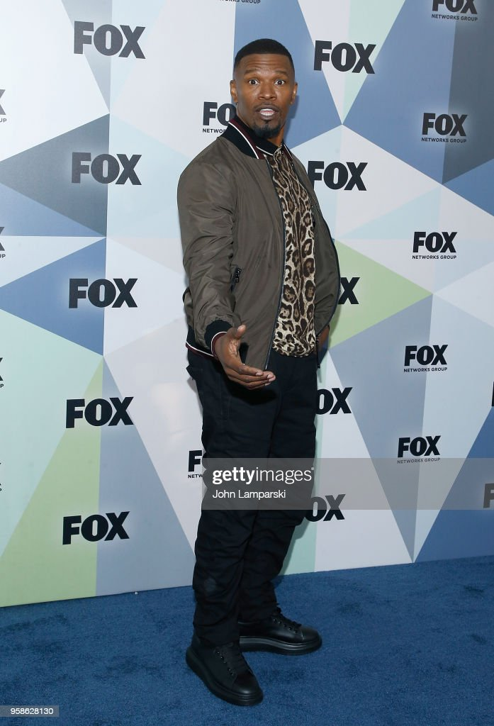 Jamie Foxx attends 2018 Fox Network Upfront at Wollman Rink, Central Park on May 14, 2018 in New York City.